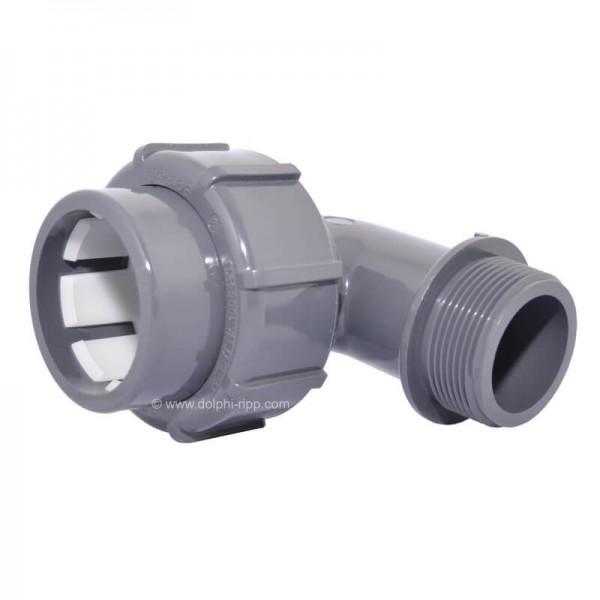 Flexfit Übergangswinkel 90° Klemm - 1 1/2 Zoll AG