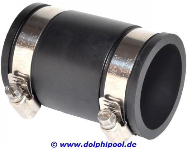 """Flexible Muffe 1 1/2"""" / 50mm, Klemmbereich 50-44 mm"""