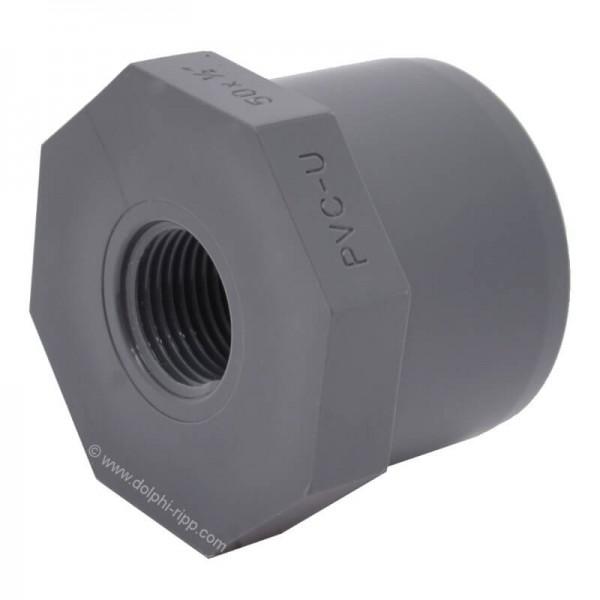 PVC Reduktion kurz 50 X 1/2 Zoll IG