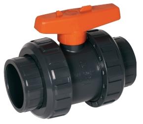 PVC Kugelhahn S6 2 Wege 63 mm Klebemuffe PN16