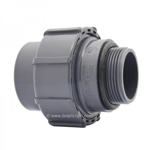 Flexfit Übergangsverschraubung Klemm - 1 1/2 Zoll AG - O-Ring