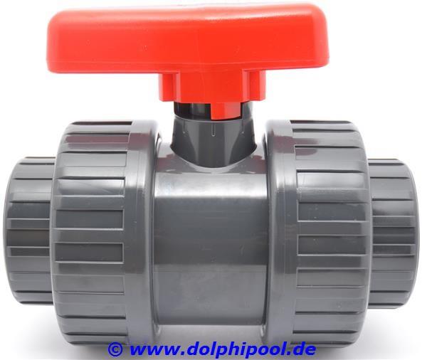 PVC Kugelhahn 2 Wege 63 mm Klebemuffe PN16